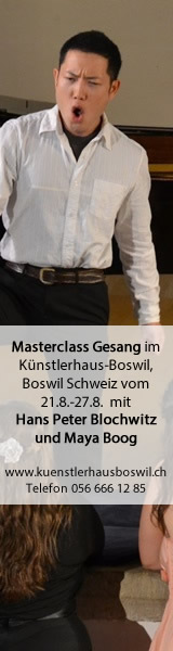 Masterclass Gesang Hans Peter Blochwitz